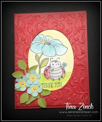 Little ladybug stampin up tina zinck