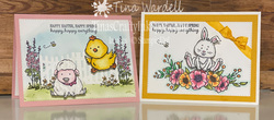 Happy easter happy spring wobbler cards