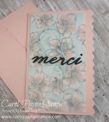 Stampin up scalloped notecard merci carolpaynestamps1