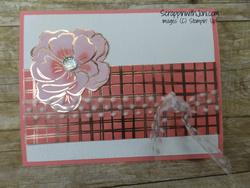 Flirty flamingo foils card