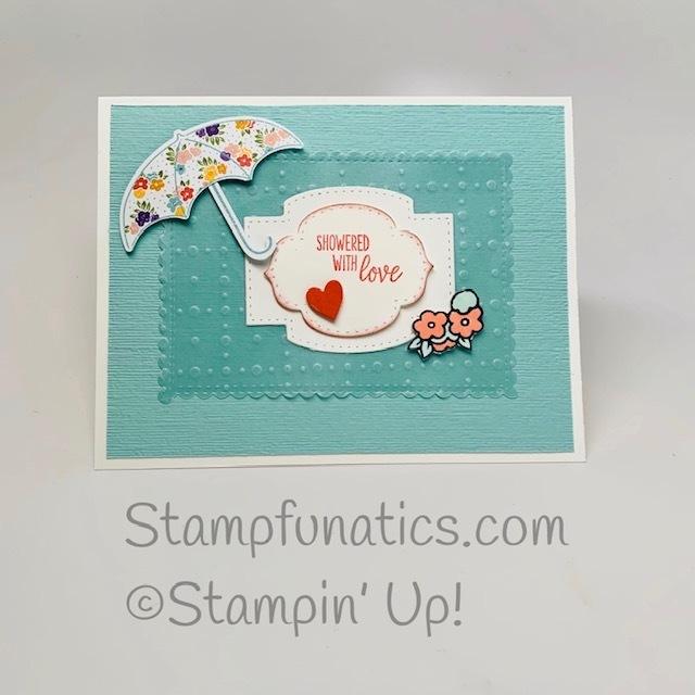 Umbrella vellum card
