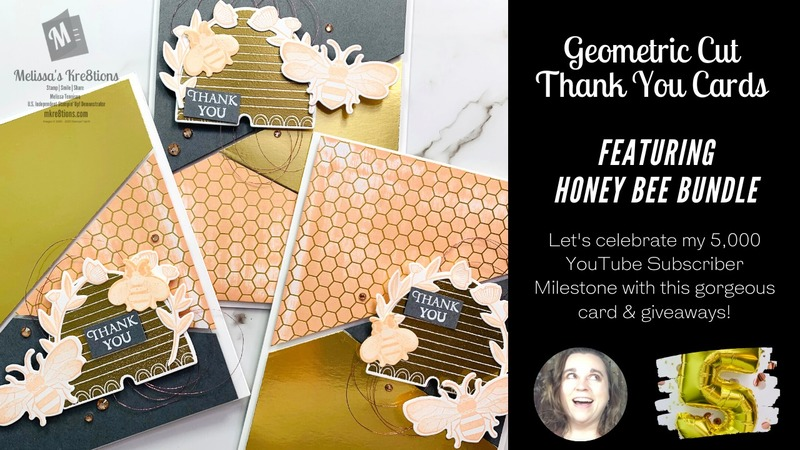 Geometric cut thank you cards by mkre8tions