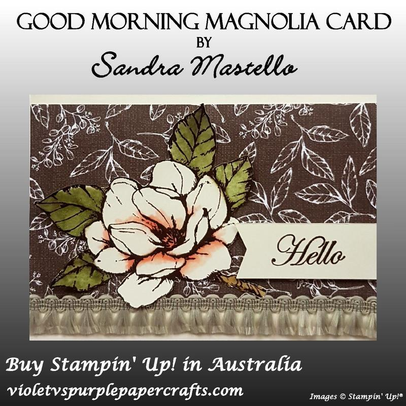 Good morning magnolia card