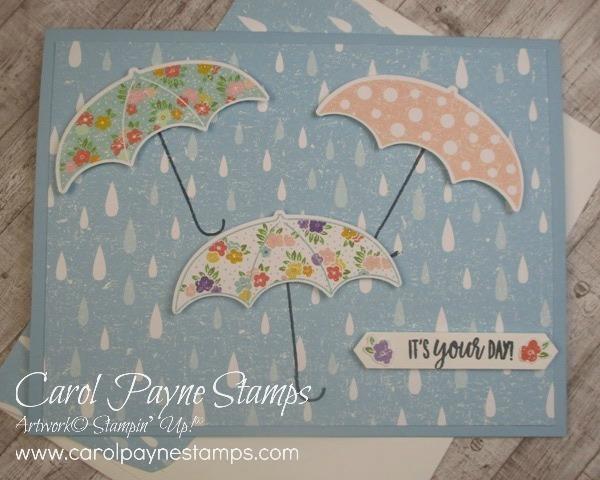 Stampin up under my umbrella carolpaynestamps1