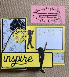 Inspire children z fold card closed