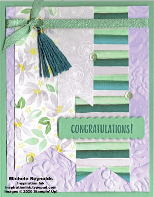 Sending you thoughts floral banner congrats watermark
