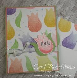 Stampin up timeless tulips carolpaynestamps1