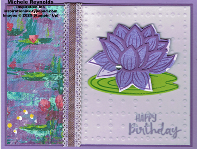 Lovely lily pad vellum birthday watermark