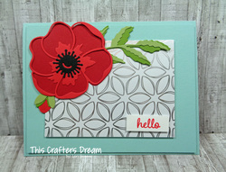 Poppymomentsdies hello floweringfoilssdsp stampinup loriskinner thiscraftersdream