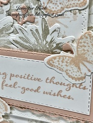 Stamping thoughts close up