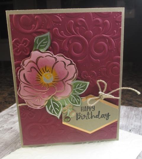 Stampin up flowering foils sending you thoughts carolpaynestamps1