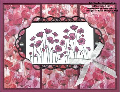 Painted poppies framed purple poppies watermark