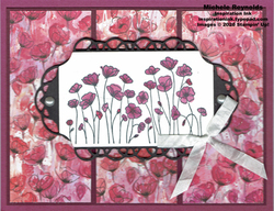 Painted poppies framed purple poppies watermark