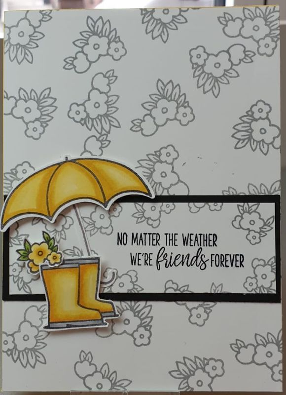 Live samen stempelen met under my umbrella van stampin up