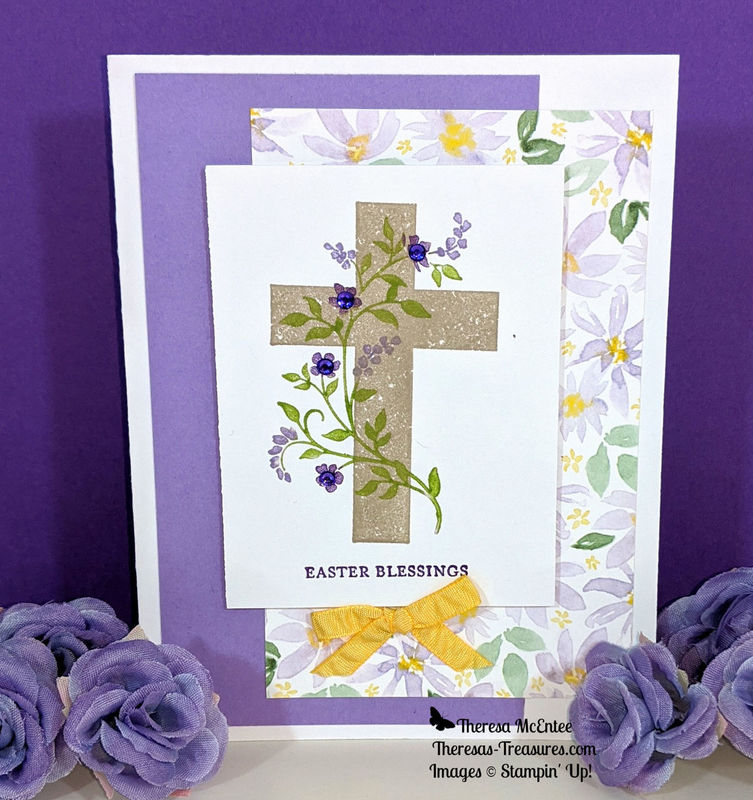 Cross with flowers wm