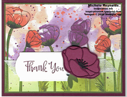 Peaceful moments thank you poppies watermark