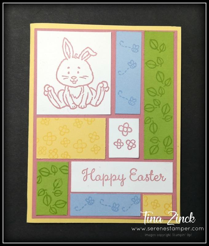 Easter card welcome easter color block technique tina zinck