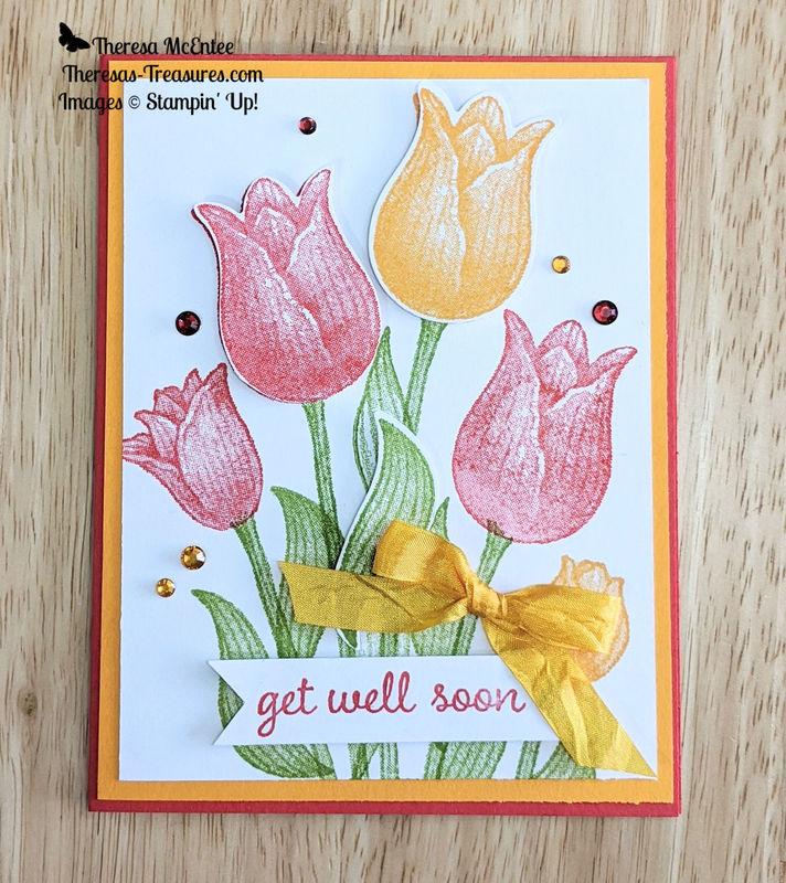 Tulips bow rhinestones wm
