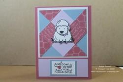 Quilt technique baby card