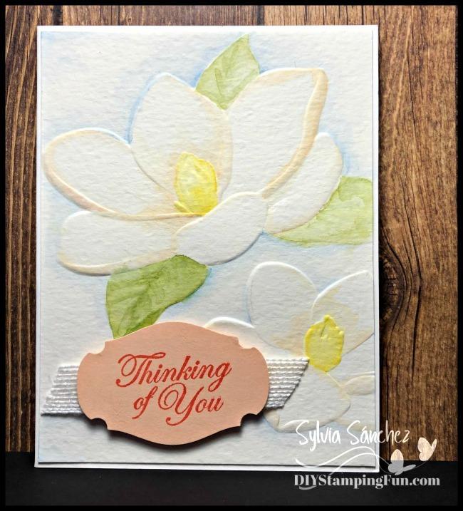 Z watercolor magnolia