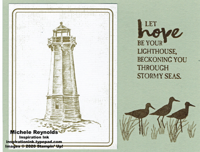 High tide brown lighthouse hope watermark