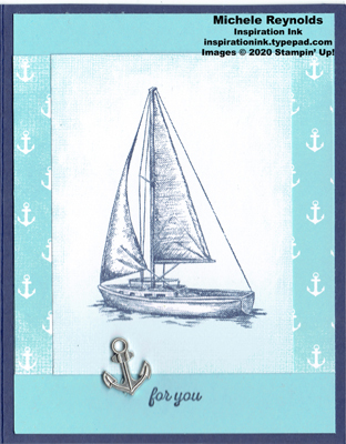 Itty bitty greetings sailboat anchor watermark