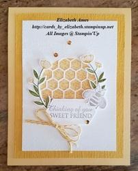 Yellow bee card wm