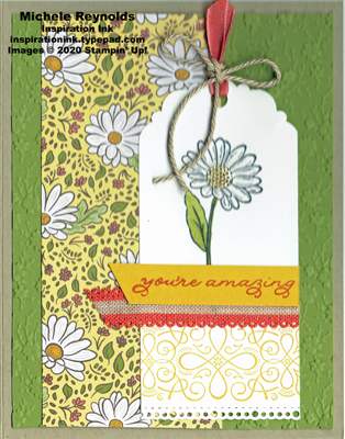 Ornate style amazing daisy tag watermark