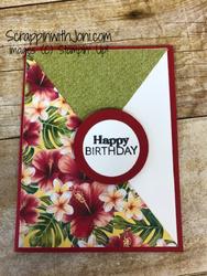 Diagonal paper flip card