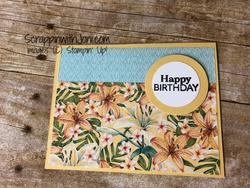Paper flip landscape card