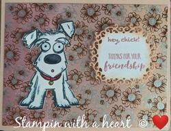 Flowering foils with tim holtz crazy dog