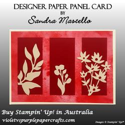 Designer paper panel card 03