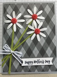 Mothers day daisy card