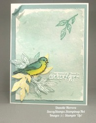 Water coloring with free as a bird stamp set