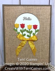 Tulip garden designer paper window card   3