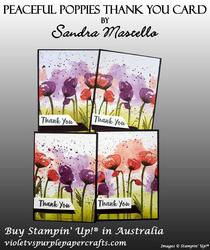 Peaceful poppies thank you card 00