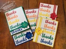 Rainbow of thanks card