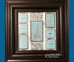 Parisian beauty shadow box in frame