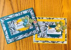 Botanical prints triple layer card duo