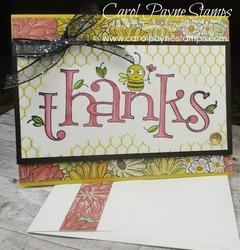 Stampin up bee thankful carolpaynestamps1