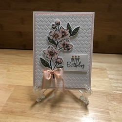 Forever blossoms birthday card