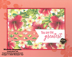 Tropical chic greatest hibiscus watermark