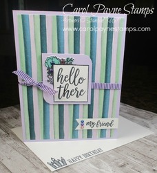 Stampin up i say hello carolpaynestamps1