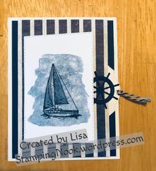 Come sail away pull tab card 1