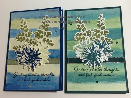 Positive thoughts watercolour card