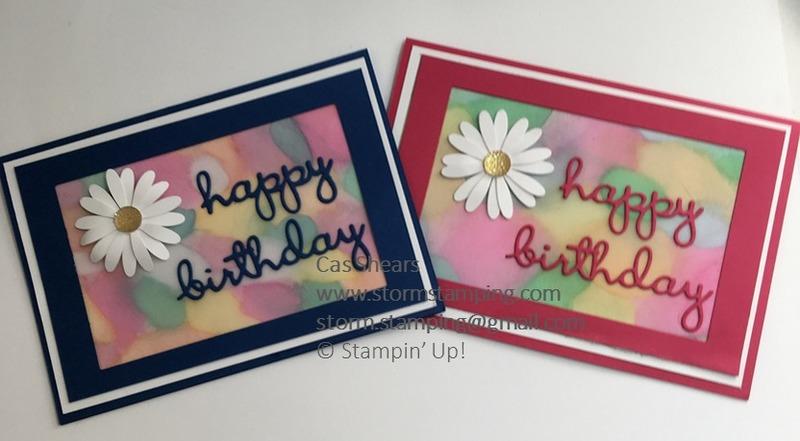 Vellum blend daisy card