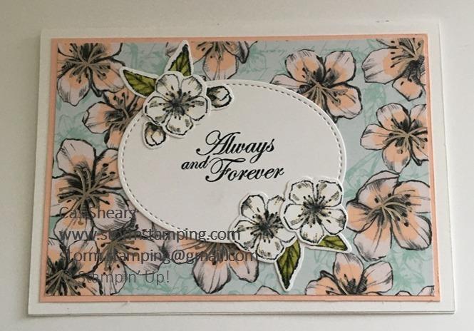 Parisian blossoms anniversary card