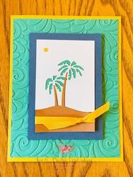 Friendly silhouettes maui palm trees card