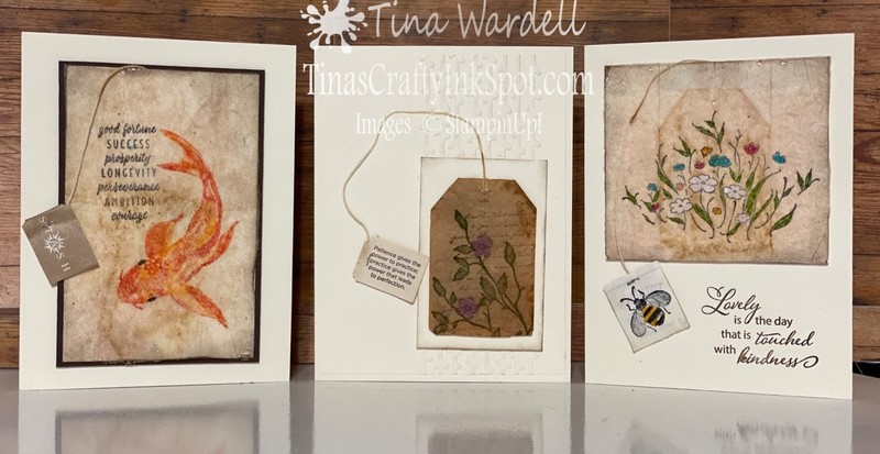 Tea bag card set