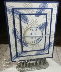 Stampin up tasteful touches triple time carolpaynestamps1